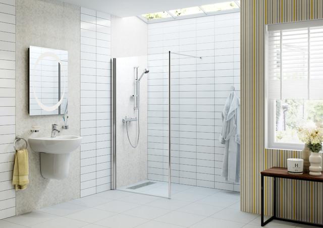douche litalienne et parois en verre moderne salle de bain - Douche A Litalienne Moderne