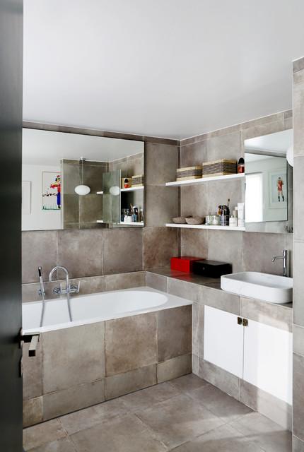 duplex parisien bathroom contemporain salle de bain other metro par sarah lavoine. Black Bedroom Furniture Sets. Home Design Ideas