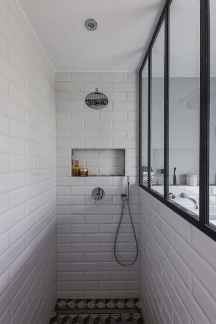 Esprit atelier for Bain et douche petit espace