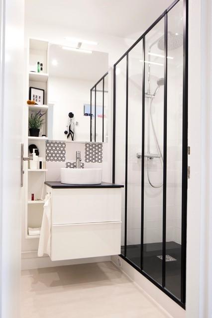 ethnic studio contemporain salle de bain paris par. Black Bedroom Furniture Sets. Home Design Ideas