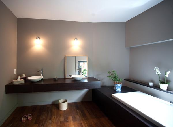 extension aupr s de mon arbre contemporain salle de. Black Bedroom Furniture Sets. Home Design Ideas