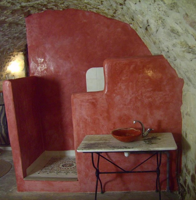 Galerie stuc et tadelakt - Méditerranéen - Salle de Bain ...