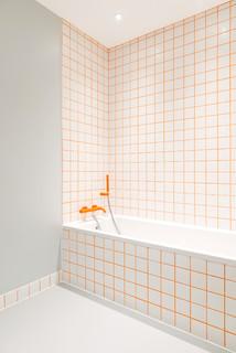 Salle de bain avec un carrelage orange : Photos et idées ...
