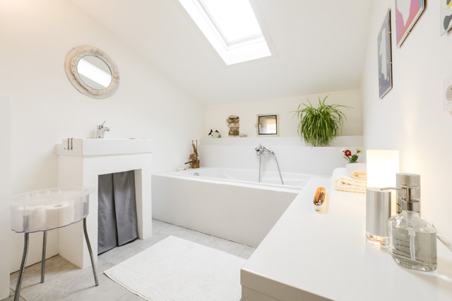 HOME STAGING SALLE DE BAIN Contemporaneo Stanza Da Bagno - Home staging salle de bain