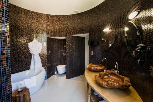 salle de bain en pierre salle de bains quelle dcoration tendance - Salle De Bain Ardoise Et Pierre