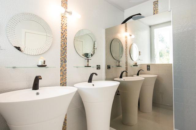 la salle de bain de la chambre klimt contemporain salle de bain other metro par a3design. Black Bedroom Furniture Sets. Home Design Ideas