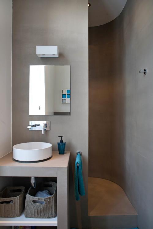 bagno piccolo uso pareti dinamico