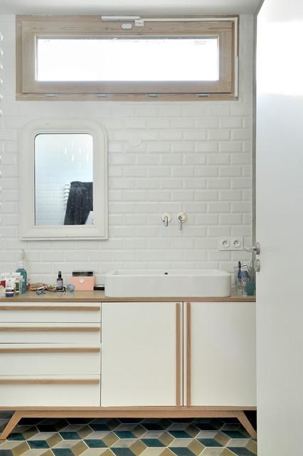 maison contemporaine btonbois scandinavian bathroom - Maison Moderne Beton