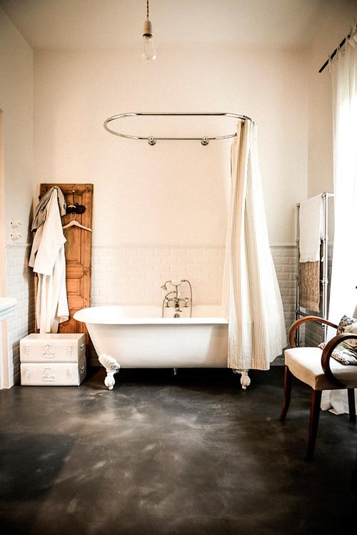 barre de rideau de douche ovale. Black Bedroom Furniture Sets. Home Design Ideas