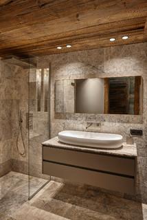 Salle de bain avec un sol en travertin : Photos et idées ...