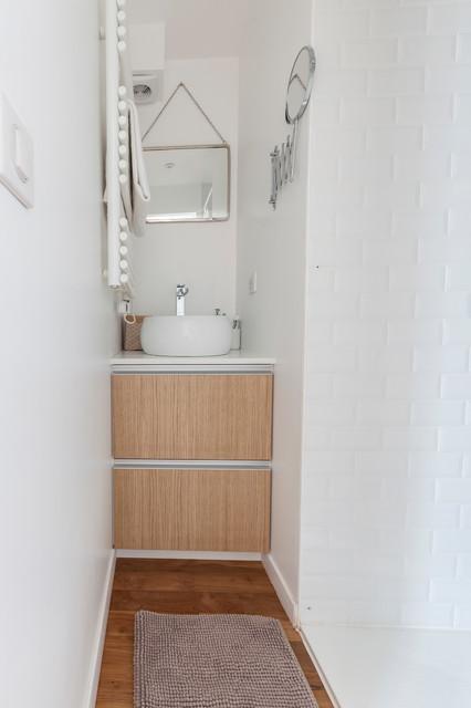 Optimisation d 39 une salle de bain de 1 5 m2 contemporary for Salle de bain 7 5 m2