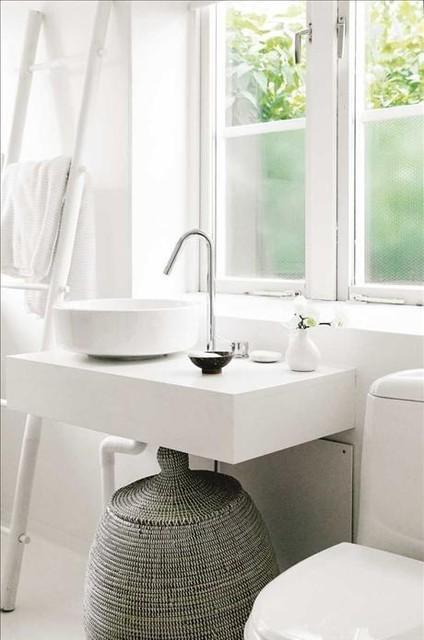 Panier linge design s n galais pour une salle de bain - Panier a linge salle de bain ...