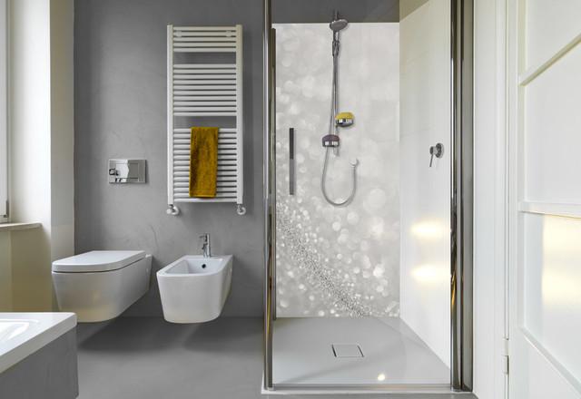 Panneau de douche paillettes - Panneau deco salle de bain ...