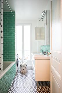 Salle de bain avec un carrelage vert : Photos et idées déco ...