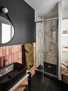 Salle de bain avec un carrelage rose : Photos et idées déco ...