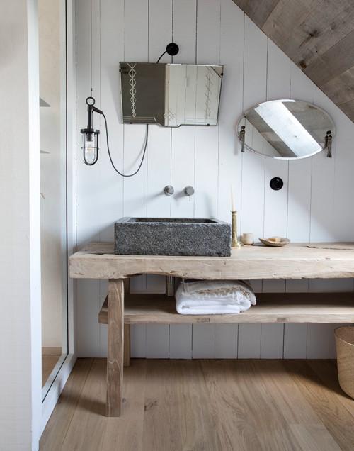 Les meubles en bois d cap s apportent une touche brute for Mr bricolage salle de bain