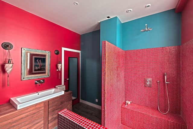 Playground at home eclectic-bathroom