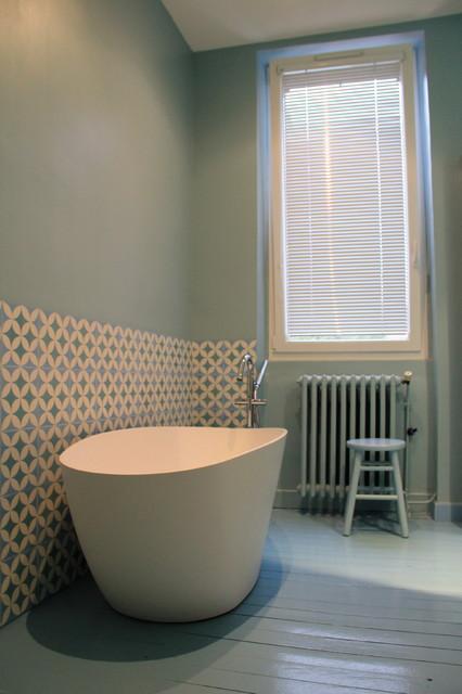 R alisations carreaux de ciment salle de bain - Salle de bain carreau ciment ...