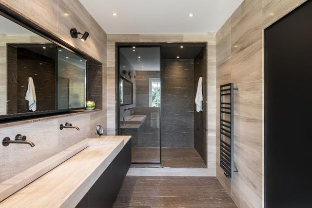 R am nagement d 39 une salle de bain contemporain salle de bain lyon par la fable - Houzz salle de bain ...