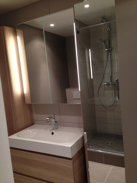R novation d 39 un appartement de 100m2 for Salle de bain moderne houzz