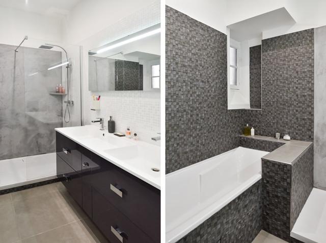 rnovation dun appartement haussmannien lyon 06 moderne salle de bain