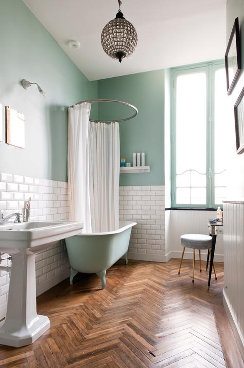 o peut on trouver un arceau tel que celui ci pour le rideau de douche. Black Bedroom Furniture Sets. Home Design Ideas