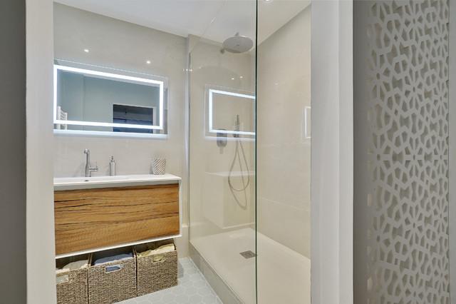 Rénovation Salle de bain Paris 19ème - Modern - Badezimmer ...