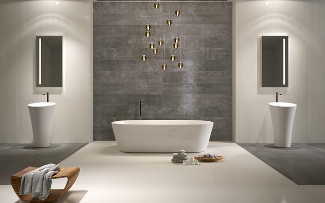 Revêtement mural salle de bain - Contemporain - Salle de ...