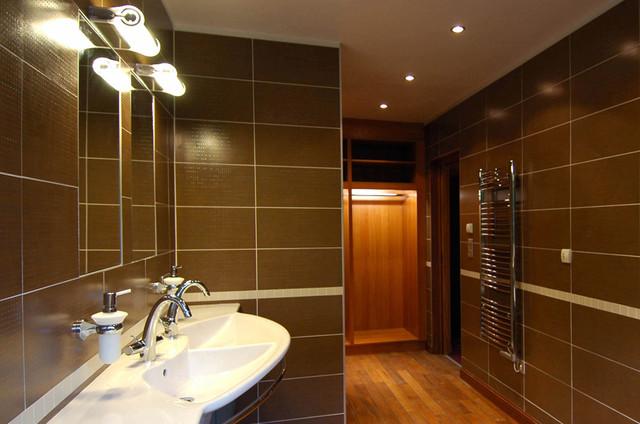 Salle d 39 eau contemporaine contemporain salle de bain - Salle d eau ou salle de bain ...