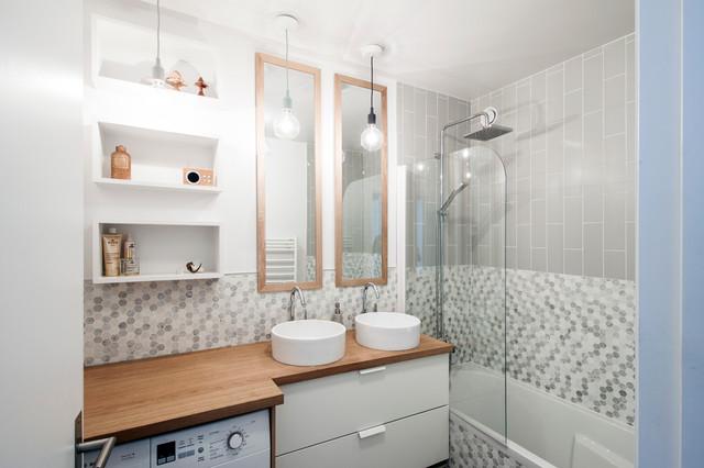 Salle de bain contemporaine - Appartement Fessart contemporain-salle-de-bain