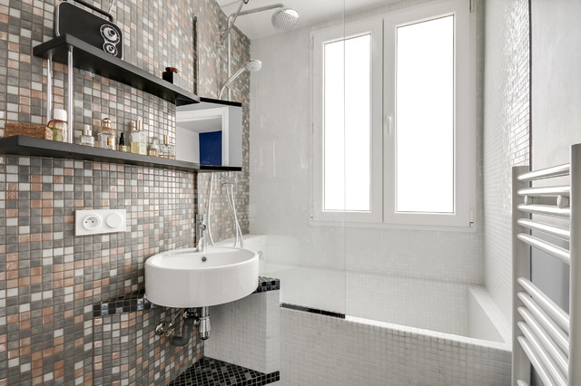 Salle de bain contemporaine pixel contemporary - Faience salle de bain contemporaine ...
