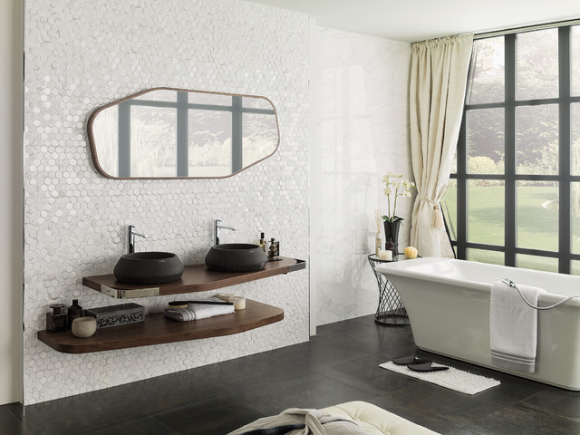salle de bain contemporaine porcelanosa contemporary bathroom