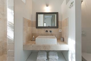 Salle De Bain Avec Travertin Photos Et Idees Deco