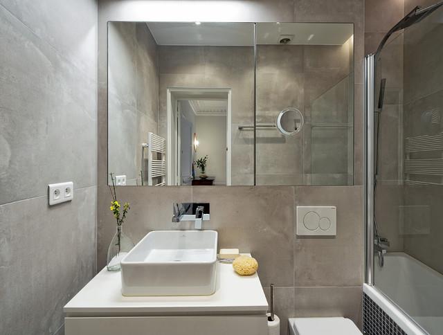 salle de bain contemporary bathroom paris by mia architectes. Black Bedroom Furniture Sets. Home Design Ideas
