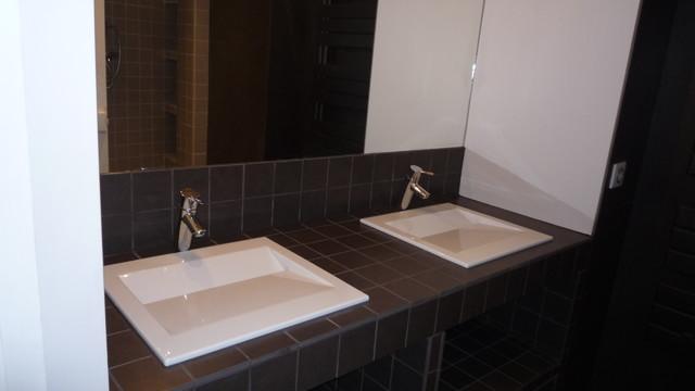 salle de bains masculine contemporary bathroom other by karine perez. Black Bedroom Furniture Sets. Home Design Ideas
