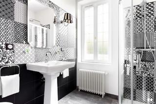 Salle de bain style art déco chic et intemporel - Transitional ...