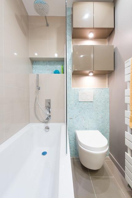 Salle de bain sur mesure dans un petit appartement a Paris ...