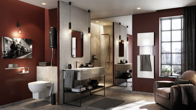Inspiration For An Industrial Bathroom In Paris.