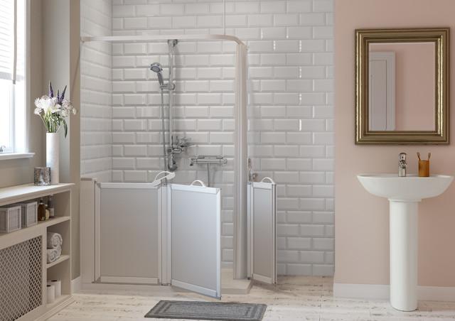 Salle de bains accessible seniors pmr avec receveur de for Robinetterie porcelanosa