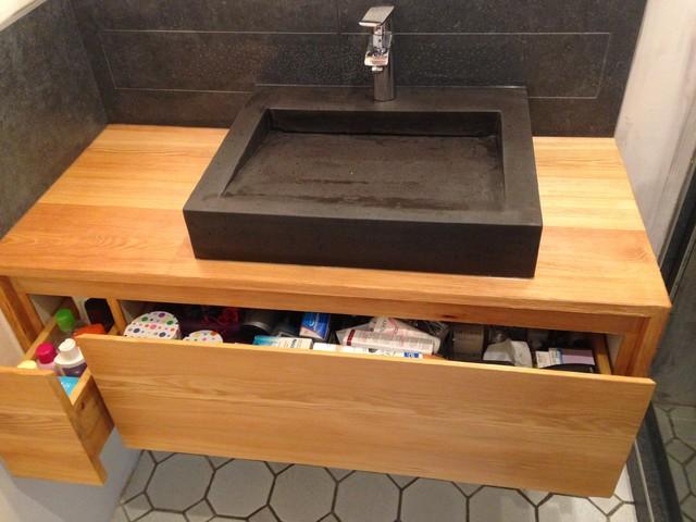 Salle de bains modern bathroom other metro by artisan b niste - Salle de bain modern ...