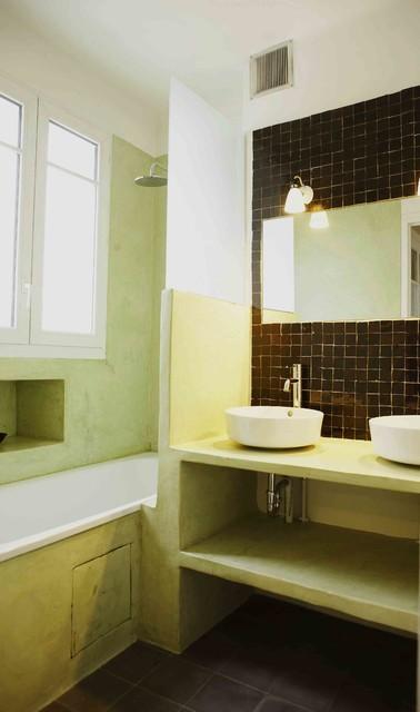salle de bains en tadelakt et zelliges - Mediterranean ...