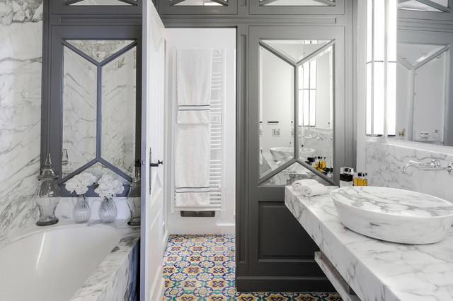 Salle de bains gd d classico stanza da bagno nizza di gilles