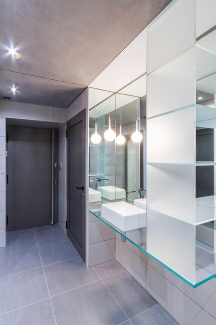 Salle de bains contemporain salle de bain nancy - Bain douche nancy ...
