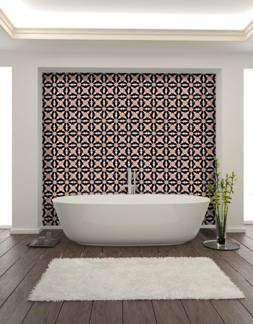 Salles de bain d 39 exception moderne salle de bain autres p rim tres par a t manos for Poser du carrelage dans une salle de bain