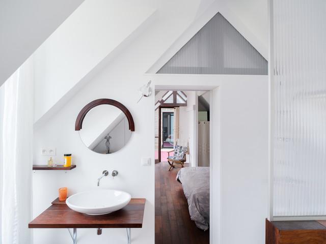 Scandinave Salle De Bain - Scandinavian - Bathroom - Rennes