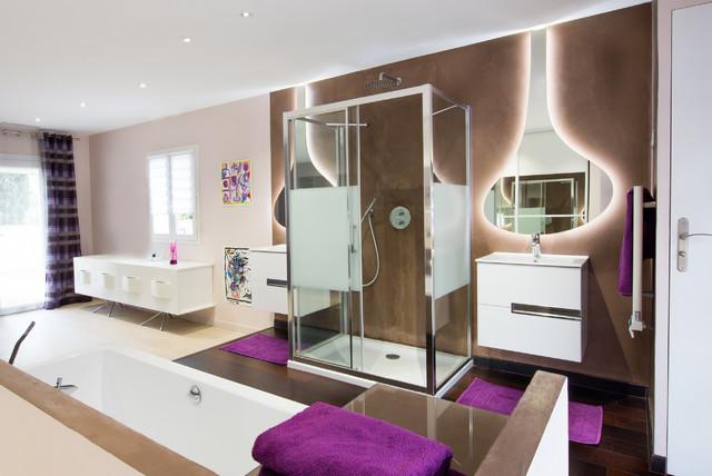 Suite parentale for Salle de bain suite parentale