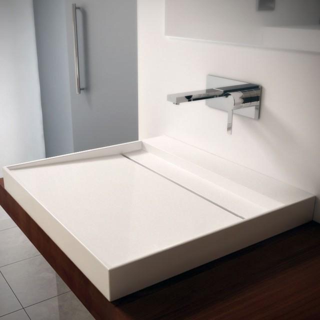 vasque poser sur mesure lineare moderne salle de bain