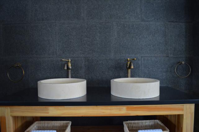 vasque en pierre ronde dia 40 marbre gyptien rondo sunny contemporain salle de bain. Black Bedroom Furniture Sets. Home Design Ideas