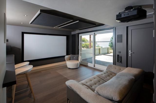 PROJET AIX LES BAINS / Salle Home Cinéma - Contemporary - Home ...