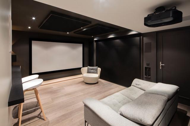 projet aix les bains salle home cin ma contemporain salle de cin ma grenoble par act1. Black Bedroom Furniture Sets. Home Design Ideas